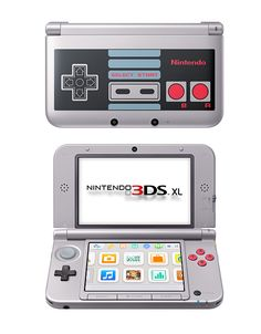 3DS XL Retro Edition by Nintendo. Play your favorite games anyplace, anytime with this Retro 3DS Nintendo. Face-tracking 3D, fast processing speeds,  90% bigger screen than the Nintendo 3DS. Perfect for anyone who loves gaming.  http://www.zocko.com/z/JKQ8F