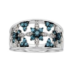 Enhanced Blue and White Diamond Ring  #GiftsThatDelight #FredMeyerJewelers