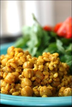 Curried Barley Chickpea Salad - Success! This a yummy, filling dish for a healthy lunch. Would be a wonderful accompaniment to some bright, steamed veggies.