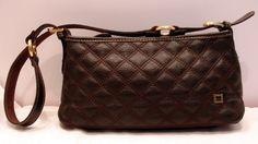 SOLD The SAK Brown Quilted Leather Shoulder Bag w Brass Trim #TheSak #ShoulderBag