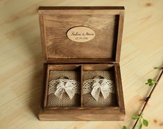 Caja del anillo de boda personalizado. Caja del por collectivemade