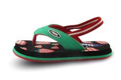 Buy Flip Flops for Girls Baby - Footwear - Strawberry White,Black&Green-Casual Girls Flip Flop Online India | The Little Shopper
