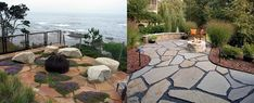 Discover a centuries-old staple stone with the top 40 best flagstone walkway ideas. Explore unique hardscape path designs for your front and backyard. Backyard Patio, Backyard Landscaping, Landscaping Design, Modern Backyard, Modern Landscaping, Flagstone Walkway, Stone Walkways, Pavers Patio, Gravel Driveway