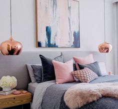 """Love everything in this design from the copper pendants to the artwork used. The colours amazing! @littlelibertyrooms"""