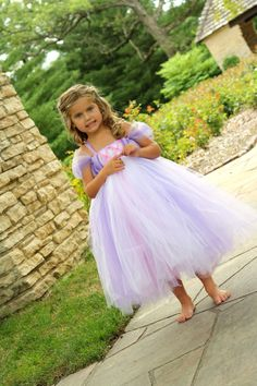 All Tangled Up in Rapunzel Tutu Dress SZ 35 by lauriestutuboutique, $67.50