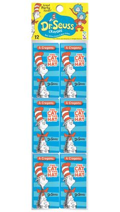 Dr. Seuss Cat in the Hat Crayons 12 Pack $3.59
