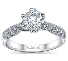 Vatche Engagement Rings, Pave Royal Crown Diamond Engagement Ring #121