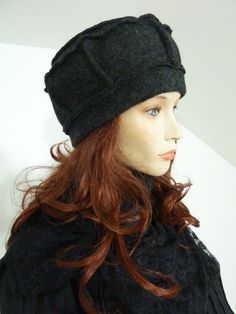 Effortlessly chic lagenlook anthracite boiled/ by whitebagheera - Note sectioned sides and double ring top.