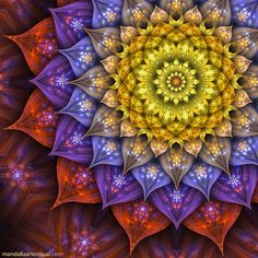 """Big Bloom"" - art by Marcelo Dalla, via ManDalla Arte Visual   ...offset..."