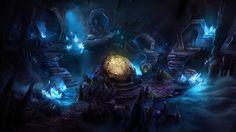 Otherworld - crystal cave by firedudewraith.deviantart.com on @deviantART for the casual hidden object adventure game, Otherworld: Spring of Shadows