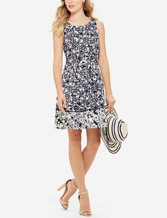 Textured Floral Print Dress from TheLimited.com
