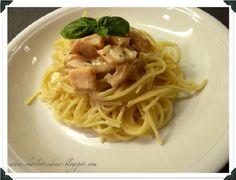 Spaghetti in Lachs-Sahne-Sauce