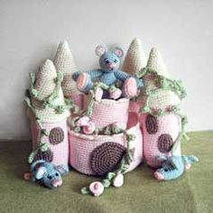 Mice Castle amigurumi crochet pattern by Tilda & Filur