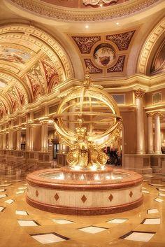 Venetian Lobby Fountain...The Venetian, Las Vegas