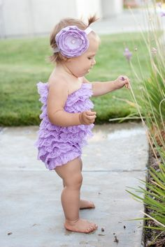 In everything baby  : purple petti romper! by ashnic92