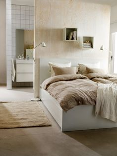 MALM Bed frame, high, w 4 storage boxes, white, Luröy - Queen - Luröy - white - IKEA High Beds, Ikea Malm Bed, High Bed Frame, Ikea Malm, Ikea Bed, Ikea, Bedroom Furniture, Malm Bed Frame, Malm Bed