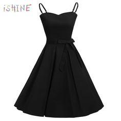 OTEN Elegant summer woman dresses Sexy Spaghetti Strap Party Midi Knee  Length dress vintage plus size clothing women 2018 2aa3d32aeaa0