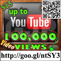 I will Give 10k-100k Youtube Views, 20-70 Likes, 10 Favs, 20 Subs $15