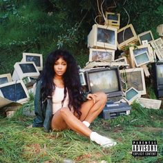 """NEW YORK (AP) — The top 10 albums of the year by Associated Press Music Editor Mesfin Fekadu.This cover image released by RCA shows 'Ctrl,' a 2017 release by SZA. (RCA via SZA, """"Ctrl"""": As the beat of the opening track of SZA's debut album. Iconic Album Covers, Cool Album Covers, Music Album Covers, Bedroom Wall Collage, Photo Wall Collage, Picture Wall, Bedroom Pics, Trap Music, Kendrick Lamar"""