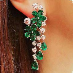 "392 Likes, 4 Comments - Jewelry Blogram (@jewelryblogram) on Instagram: ""Stunning #emerald & #diamond #earrings by #graffdiamonds - Via @graffbaku…"""
