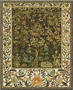 Tree of Life Umber - Large - Fruit, Flora & Fauna Tapestries and Wall Hangings