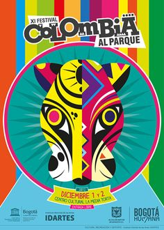 Afiche / XI Festival Colombia al Parque Concepto, diseño e ilustración. Festival Logo, Festival Posters, Latina, Retro Poster, Cultural Events, Packing Tips For Travel, Vintage Travel Posters, Branding Design, Graphic Design