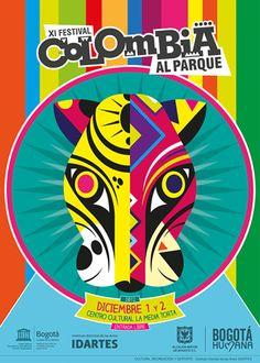 Afiche / Poster XI Festival Colombia al Parque. Concepto, diseño, ilustración y desarrollo. Trabajo realizado para el Instituto Distrital de las Artes IDARTES. Bogotá, 2012.
