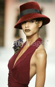model wearing Louis Verdad walks...