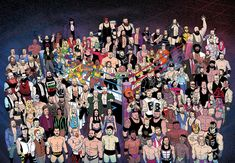 Studios and WWE revealed a first look at 'WWE: FOREVER the all-new oversized one-shot special featuring action-packed stories. Wrestling Posters, Wrestling Wwe, Classic Cartoon Characters, Classic Cartoons, Sports Illustrated Kids, Vines Funny Videos, Chris Benoit, Wwe Dean Ambrose, Wwe Live Events