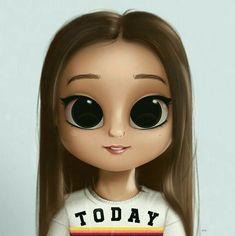 New Drawing Cartoon Characters Character Design Illustrations Ideas Kawaii Girl Drawings, Cute Girl Drawing, Cartoon Girl Drawing, Drawing Cartoon Characters, Cartoon Drawings, Cute Drawings, Cartoon Kunst, Cartoon Art, Cute Cartoon Girl