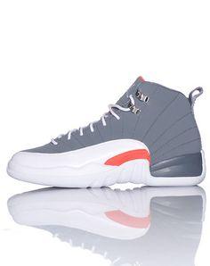 JORDAN KIDS AIR JORDAN RETRO 12 SNEAKER Grey Cute Shoes, Me Too Shoes, Jordan Retro 12, Jordans Girls, Air Jordan Shoes, Swagg, Shoe Game, What I Wore, Nike Free