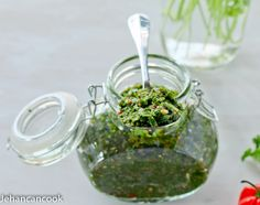 This simple green seasoning is a staple in Guyanese and Caribbean households. Green Seasoning is used to flavor many savory dishes.