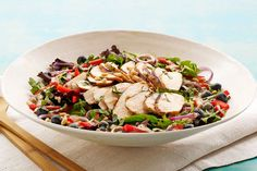 Lettuce burnout? Check out our tasty blueberry-balsamic spin on grilled chicken salad. Buh-bye, boring. Hello, fabulous.