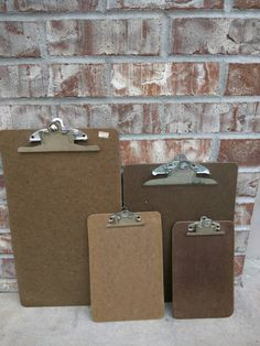 Check out this item in my Etsy shop https://www.etsy.com/listing/230401567/set-of-4-pressed-wood-vintage-clipboards