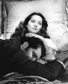 Laurence Olivier and Merle Oberon - WUTHERING HEIGHTS - 1939.  I love the beginning scenes of this movie during the snowstorm.