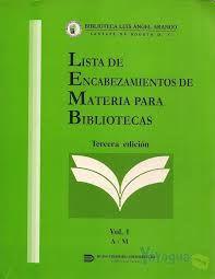 Manual lista encabezamiento de materias de BNE, revisado en 2013 Media Studies, Libraries, Activities, Management