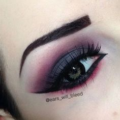Look created with the help of starcrushedminerals eyeshadows in DarkMatter and Anarchy.