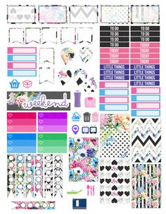 Printable Planner Stickers  Happy Planner Black And White