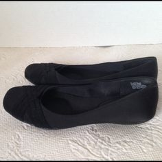 Black Crosshatch Slip-Ons Worn one time, fits true to size Mootsie Tootsies Shoes Flats & Loafers