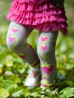 Take a look at this Gray & Pink Strawberry Organic Skirted Leggings - Toddler & Girls by Luna Leggings on today! Beautiful Little Girls, Cute Little Baby, Beautiful Babies, Little Babies, Boys And Girls Clothes, Toys For Girls, Toddler Girls, Infant Toddler, Skirt Leggings