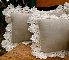 Weekend inspiration, love the lace doilies!