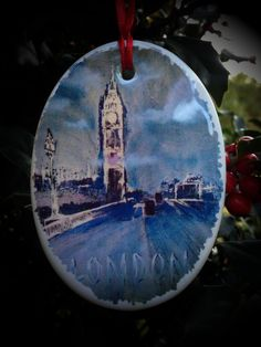 Jack Puhl Christmas London by jackpuhl on Etsy, $25.00 English Love, London Christmas, Fine Art, Unique Jewelry, Handmade Gifts, Etsy, Vintage, Beautiful, Kid Craft Gifts