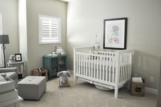 Elephant / Neutral greys Nursery | The Small Things Blog
