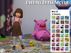Sims 4 CC's - The Best: Overalls dress Skolor by fuyaya