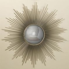 Sunburst mirror with convex reflective surface adds a great look to any interior.     FINISH: Nickel     [share]