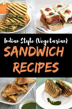 the collection of 15 easy to make, delicious, Indian veg sandwich recipes. This includes grilled, toasted, open faced and no-cook sandwiches. Vegetarian Panini, Vegetarian Sandwich Recipes, Veg Sandwich, Vegetarian Pasta Dishes, Easy Sandwich Recipes, Panini Recipes, Veg Dinner Recipes, Vegetarian Breakfast Recipes, Veg Recipes
