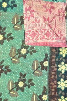 Handmade Vintage One-of-a-Kind Kanthina Sari Quilt high on my wishlist!