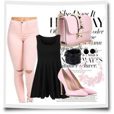 what top to wear with pink jeans 4