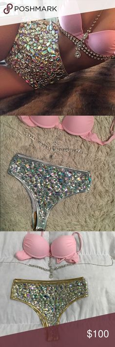 346d8fc9c2 Bikini Sexy high waisted bikini with diamonds detailing. Perfect for all  occasions. This the
