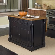 Monarch Kitchen Island by Brookstone - Found on HeartThis.com @HeartThis | See item http://www.heartthis.com/product/468882089697220623?cid=pinterest